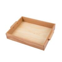 Petit plateau en bois avec poignées
