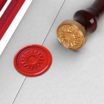 """Set de cire traditionnelle avec sceau """"soleil"""""""