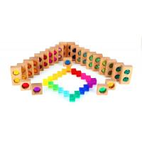 Petite roue des couleurs et cubes translucides - Bauspiel