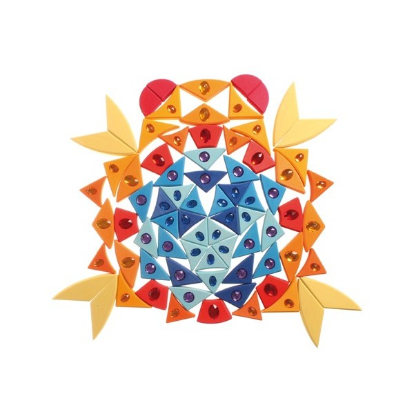 Mandala Soleil | Puzzle créatifs Grimm\'s | Tangram Montessori