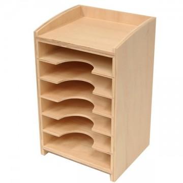 meuble de rangement pour les cartes du cabinet de g om trie mat riel montessori tangram. Black Bedroom Furniture Sets. Home Design Ideas
