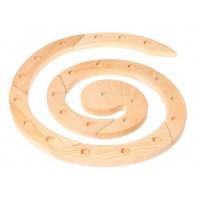 Spirale d'anniversaire ou de l'Avent-bois naturel