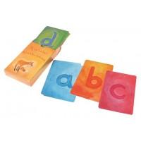 Jeu de cartes de l'alphabet script