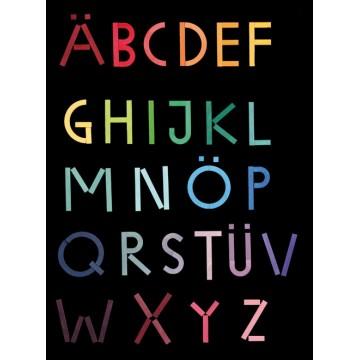 Jeu des lettres de l'alphabet magnétique