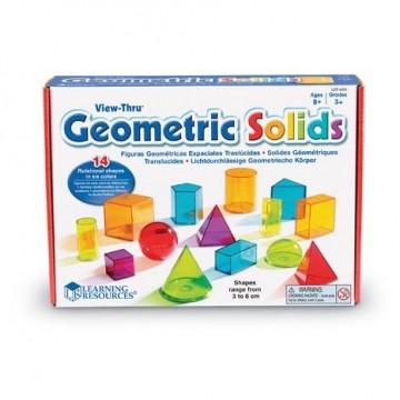 14 solides de géométrie transparents