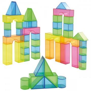 50 blocs translucides colorés