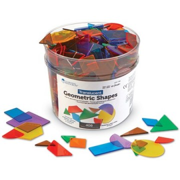 408 formes géométriques translucides