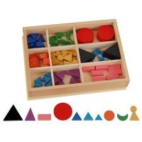 Boîte de symboles de grammaire en bois