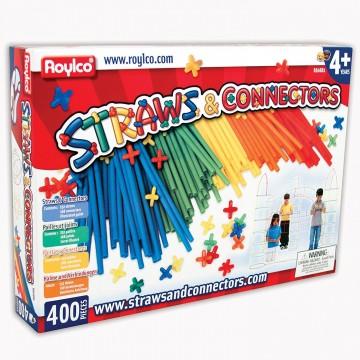 "Jeu de construction ""straws and connectors"": 400 pièces"