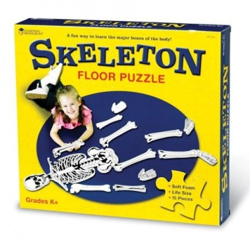 Puzzle squelette en mousse