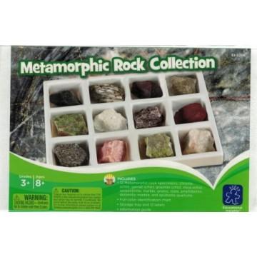 Collection de roches métamorphiques