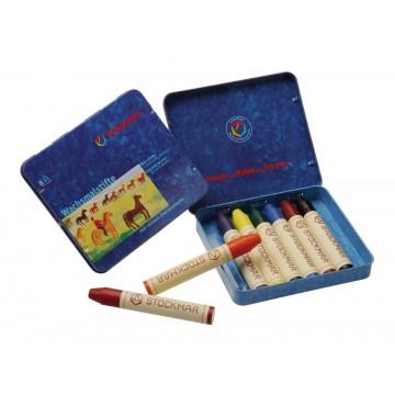 8 crayons de cire Stockmar : assortiment Waldorf