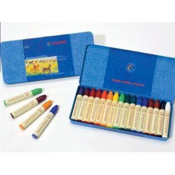16 crayons de cire Stockmar