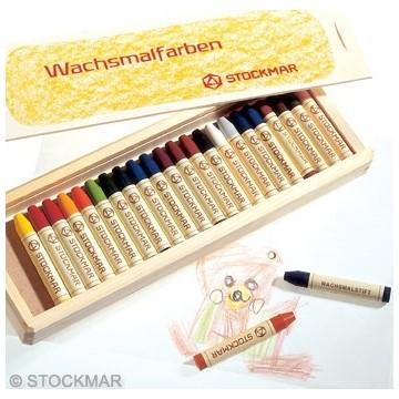 24 crayons de cire Stockmar