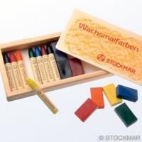 8 crayons de cire et 8 blocs Stockmar