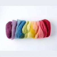 Laine bio pour feutrage -12 couleurs