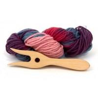 Fourchette à tricoter avec laine