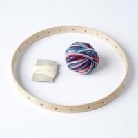 Métier à tisser rond pour enfant avec laine