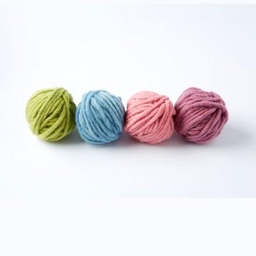 4 pelotes de laine bio - tons pastels