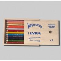 12 crayons de couleur Ferby-mine hexagonale-laqués