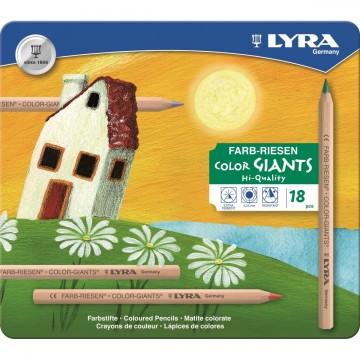 18 Color Giants non laqués hexa. étui métal