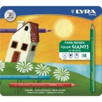 18 crayons de couleur Ferby-mine hexagonale-laqués
