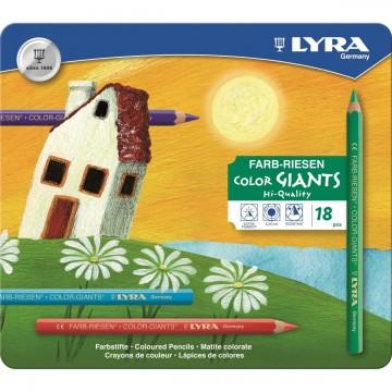 18 Color Giants laqués hexa. étui métal