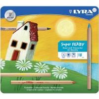 18 crayons de couleur Ferby-mine triangulaire