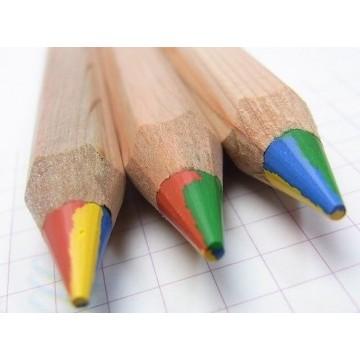 1 crayon 4 couleurs Color Giants hexagonal