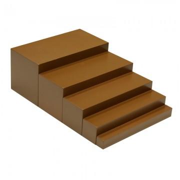 Escalier marron 5 marches en hêtre