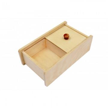 Boîte avec couvercle coulissant
