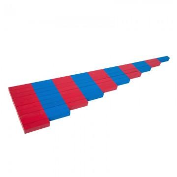 Barres rouges et bleues en hêtre