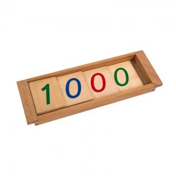 Grands symboles en bois 1-9000
