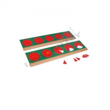 Cercles des fractions en métal avec supports
