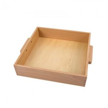 Plateau pour 9 cubes de 1 000 en bois