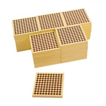 45 carrés de 100 en bois
