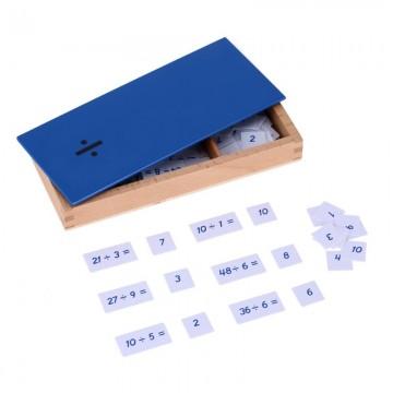 Boîte des équations de la division