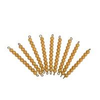 9 barres de 10 perles dorées