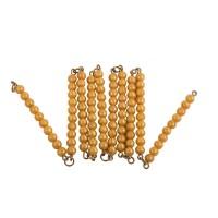 Chaîne de 100 perles dorées