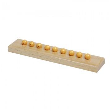 9 perles dorées et support