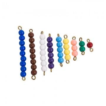 Escalier de perles colorées 1-9