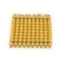 1 carré de 100 perles dorées