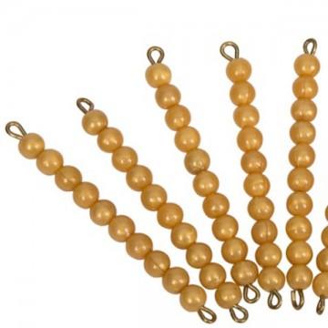 1 barre de 10 perles dorées