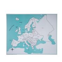 Carte de contrôle du puzzle de l'Europe