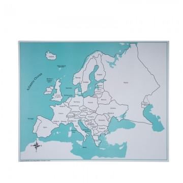 Carte Europe Savane.Carte De Controle Du Puzzle De L Europe
