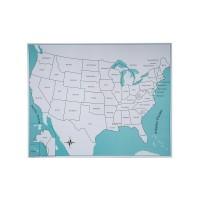 Carte de contrôle pour le puzzle des Etats-Unis