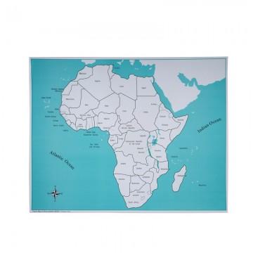 Carte de contrôle pour le puzzle de l'Afrique