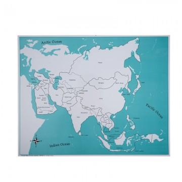 Carte de contrôle pour le puzzle de l'Asie