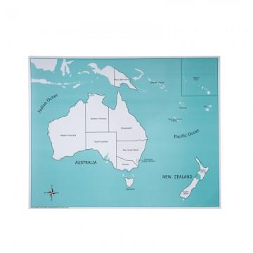 Carte de contrôle pour le puzzle de l'Australie