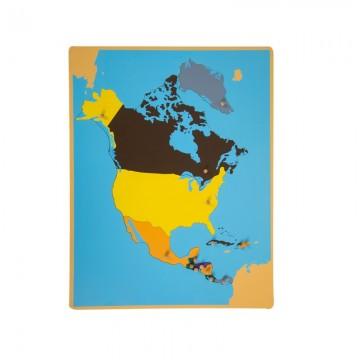 Puzzle de l'Amérique du Nord et centrale
